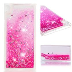 Dynamic Liquid Glitter Quicksand Sequins TPU Phone Case for Sony Xperia XA1 Ultra - Rose