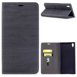 Tree Bark Pattern Automatic suction Leather Wallet Case for Sony Xperia XA1 Ultra - Gray