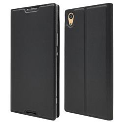 Ultra Slim Card Magnetic Automatic Suction Leather Wallet Case for Sony Xperia XA1 Ultra - Star Grey