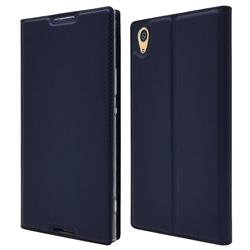 Ultra Slim Card Magnetic Automatic Suction Leather Wallet Case for Sony Xperia XA1 Ultra - Royal Blue
