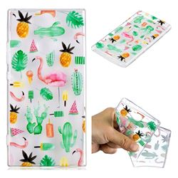 Cactus Flamingos Super Clear Soft TPU Back Cover for Sony Xperia XA2