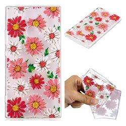 Chrysant Flower Super Clear Soft TPU Back Cover for Sony Xperia XA2