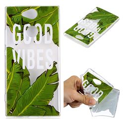 Good Vibes Banana Leaf Super Clear Soft TPU Back Cover for Sony Xperia XA2