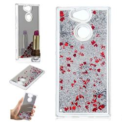 Glitter Sand Mirror Quicksand Dynamic Liquid Star TPU Case for Sony Xperia XA2 - Red