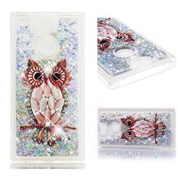 Seashell Owl Dynamic Liquid Glitter Quicksand Soft TPU Case for Sony Xperia XA2