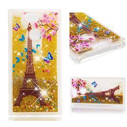 Golden Tower Dynamic Liquid Glitter Quicksand Soft TPU Case for Sony Xperia XA2