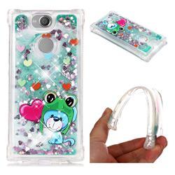 Heart Frog Lion Dynamic Liquid Glitter Sand Quicksand Star TPU Case for Sony Xperia XA2