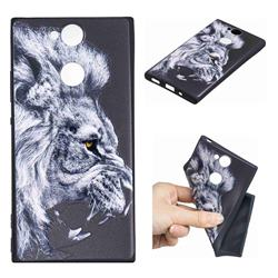 Lion 3D Embossed Relief Black TPU Cell Phone Back Cover for Sony Xperia XA2