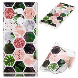 Rainforest Soft TPU Marble Pattern Phone Case for Sony Xperia XA2