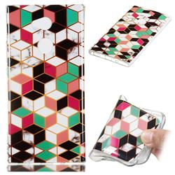 Three-dimensional Square Soft TPU Marble Pattern Phone Case for Sony Xperia XA2