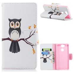 Owl on Tree Leather Wallet Case for Sony Xperia XA2