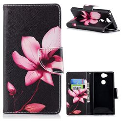 Lotus Flower Leather Wallet Case for Sony Xperia XA2
