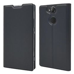 Ultra Slim Card Magnetic Automatic Suction Leather Wallet Case for Sony Xperia XA2 - Star Grey