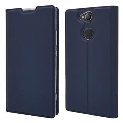 Ultra Slim Card Magnetic Automatic Suction Leather Wallet Case for Sony Xperia XA2 - Royal Blue