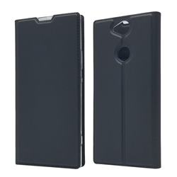 Ultra Slim Card Magnetic Automatic Suction Leather Wallet Case for Sony Xperia XA2 Plus - Star Grey