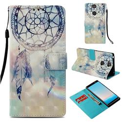 Fantasy Campanula 3D Painted Leather Wallet Case for Sony Xperia XA2 Plus