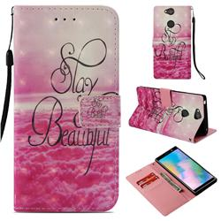 Beautiful 3D Painted Leather Wallet Case for Sony Xperia XA2 Plus