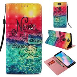 Colorful Dream Catcher 3D Painted Leather Wallet Case for Sony Xperia XA2 Plus