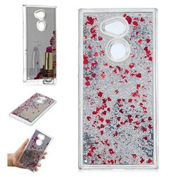 Glitter Sand Mirror Quicksand Dynamic Liquid Star TPU Case for Sony Xperia XA2 Ultra(6.0 inch) - Red