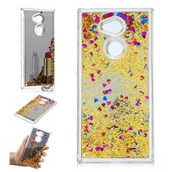 Glitter Sand Mirror Quicksand Dynamic Liquid Star TPU Case for Sony Xperia XA2 Ultra(6.0 inch) - Yellow