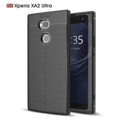 Luxury Auto Focus Litchi Texture Silicone TPU Back Cover for Sony Xperia XA2 Ultra(6.0 inch) - Black