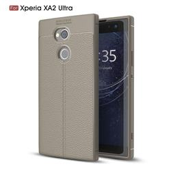 Luxury Auto Focus Litchi Texture Silicone TPU Back Cover for Sony Xperia XA2 Ultra(6.0 inch) - Gray