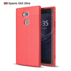 Luxury Auto Focus Litchi Texture Silicone TPU Back Cover for Sony Xperia XA2 Ultra(6.0 inch) - Red