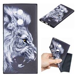 Lion 3D Embossed Relief Black TPU Cell Phone Back Cover for Sony Xperia XA2 Ultra(6.0 inch)