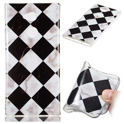 Black and White Matching Soft TPU Marble Pattern Phone Case for Sony Xperia XA2 Ultra(6.0 inch)