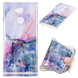 Purple Amber Soft TPU Marble Pattern Phone Case for Sony Xperia XA2 Ultra(6.0 inch)
