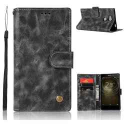 Luxury Retro Leather Wallet Case for Sony Xperia XA2 Ultra(6.0 inch) - Gray
