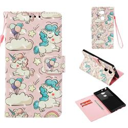 Angel Pony 3D Painted Leather Wallet Case for Sony Xperia XA2 Ultra(6.0 inch)