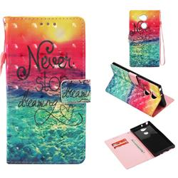 Colorful Dream Catcher 3D Painted Leather Wallet Case for Sony Xperia XA2 Ultra(6.0 inch)