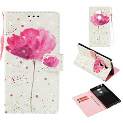 Watercolor 3D Painted Leather Wallet Case for Sony Xperia XA2 Ultra(6.0 inch)