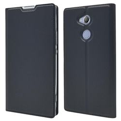 Ultra Slim Card Magnetic Automatic Suction Leather Wallet Case for Sony Xperia XA2 Ultra(6.0 inch) - Star Grey