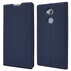 Ultra Slim Card Magnetic Automatic Suction Leather Wallet Case for Sony Xperia XA2 Ultra(6.0 inch) - Royal Blue