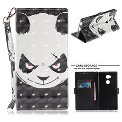 Angry Bear 3D Painted Leather Wallet Phone Case for Sony Xperia XA2 Ultra(6.0 inch)