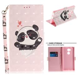 Heart Cat 3D Painted Leather Wallet Phone Case for Sony Xperia XA2 Ultra(6.0 inch)