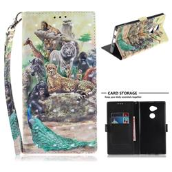 Beast Zoo 3D Painted Leather Wallet Phone Case for Sony Xperia XA2 Ultra(6.0 inch)