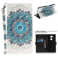Peacock Mandala 3D Painted Leather Wallet Phone Case for Sony Xperia XA2 Ultra(6.0 inch)