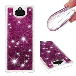 Dynamic Liquid Glitter Quicksand Sequins TPU Phone Case for Sony Xperia 10 / Xperia XA3 - Purple