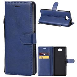 Retro Greek Classic Smooth PU Leather Wallet Phone Case for Sony Xperia 10 / Xperia XA3 - Blue