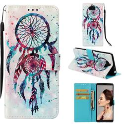 ColorDrops Wind Chimes 3D Painted Leather Wallet Case for Sony Xperia 10 / Xperia XA3