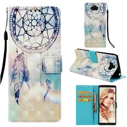 Fantasy Campanula 3D Painted Leather Wallet Case for Sony Xperia 10 / Xperia XA3