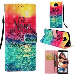 Colorful Dream Catcher 3D Painted Leather Wallet Case for Sony Xperia 10 / Xperia XA3