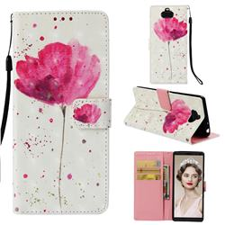 Watercolor 3D Painted Leather Wallet Case for Sony Xperia 10 / Xperia XA3
