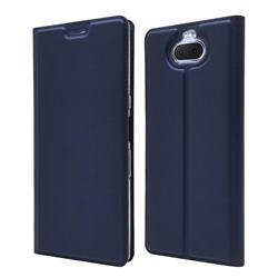Ultra Slim Card Magnetic Automatic Suction Leather Wallet Case for Sony Xperia 10 / Xperia XA3 - Royal Blue