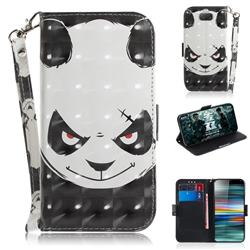 Angry Bear 3D Painted Leather Wallet Phone Case for Sony Xperia 10 / Xperia XA3
