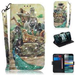 Beast Zoo 3D Painted Leather Wallet Phone Case for Sony Xperia 10 / Xperia XA3