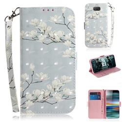 Magnolia Flower 3D Painted Leather Wallet Phone Case for Sony Xperia 10 / Xperia XA3
